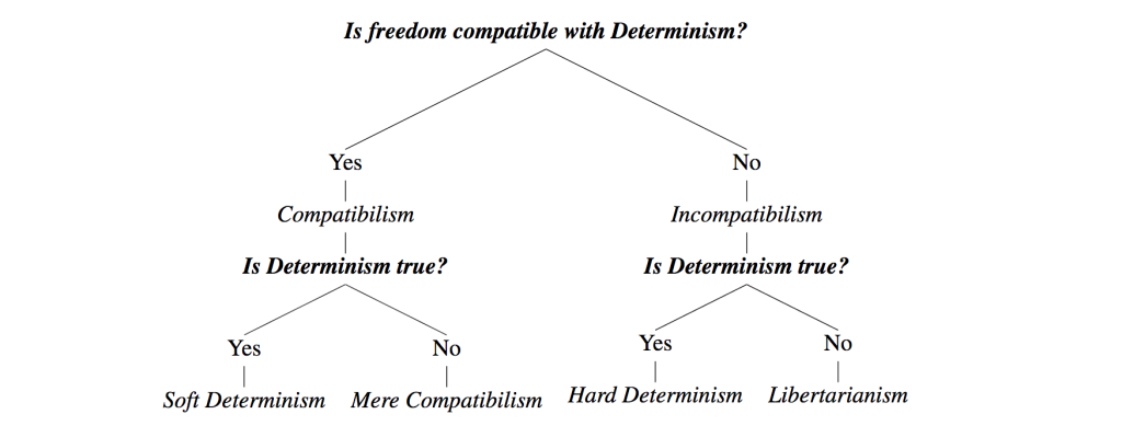 hard determinism v libertarianism There are two prevailing incompatibilist views concerning free will, hard determinism or libertarianism incompatibilism v compatibilism.